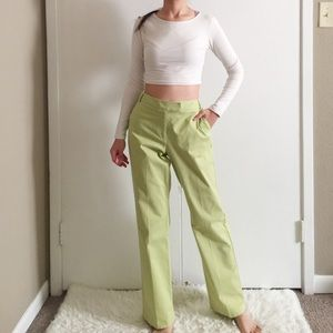 Talbots Petites Apple Green Stretch Trousers.-J2.